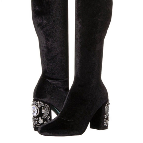 dfb75cad3a4 NIB Blue by Betsey Johnson Giselle otk boots